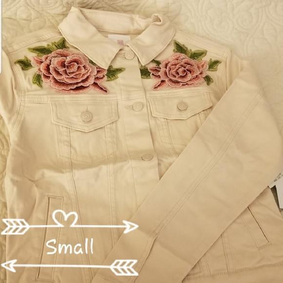 21776717988 LuLaRoe Jackets & Coats | Nwt Small Harvey Denim Jacket Roses | Poshmark